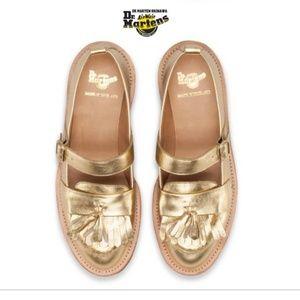 Rare! Abril Doc Martens gold maryjanes EU 41 US 9